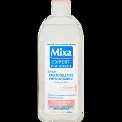 Eau micellaire physiologique anti-déssechement MIXA, flacon de 400ml