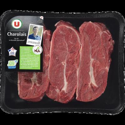 Viande bovine - Paleron * Genisse, à griller, U, nouvelle agriculture,France