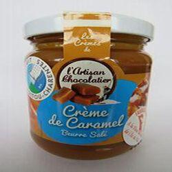 Crème de caramel beurre salé, 240gr, pot, Les crèmes de l'artisan chocolatier