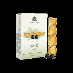 Twist feuilletés au beurre et olive MON VILLAGE, 100g