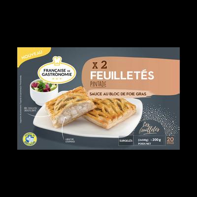 Feuilletés pintade sauce au bloc de foie gras FRANCAISE GASTRONOMIE, x2 soit 200g