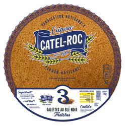 3 Galettes au blé Noir Fraiches, CATEL ROC, 190g