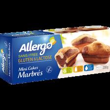 Mini cakes marbrés sans gluten et lactose ALLERGO, x6, 200g