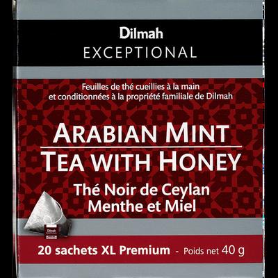 Thé noir de Ceylan menthe et miel DILMAH, sachet de 40g