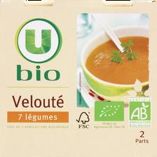Velouté 7 légumes U BIO, 2 briques de 30cl, 620g