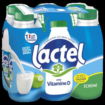 Lactel Lait Écrémé Uht - Lactel - Bouteille 6x1l
