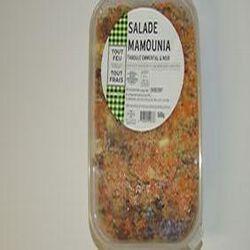 Salade Mamounia, taboulé emmental noix, BREDIAL, barquette de 500g