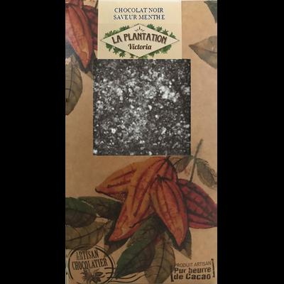 Chocolat noir saveur menthe, PLANTATION BOVETTI, tablette de 80g