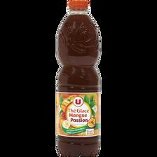Boisson au thé glacé saveur mangue passion U, bouteille de 1,5l