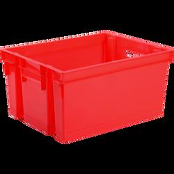 Bac de rangement, 30l 44,1x34,5x23,5cm, rouge