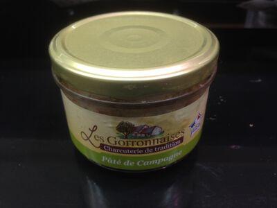 Conserves de pâté de campagne, LES GORRONNAISES, 200g