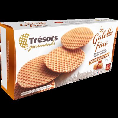 La galette fine au caramel TRESORS GOURMANDS, 100g