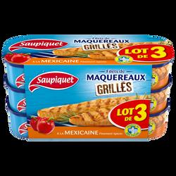 Filets maquereaux grillés à la mexicaine SAUPIQUET, 1/4, 120G
