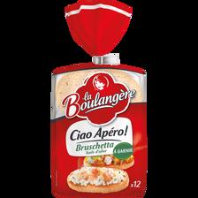 Mini pains bruschetta LA BOULANGERE, 12 unités, 350g