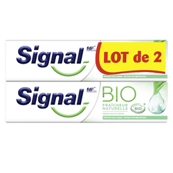 Dentifrice fraicheur naturelle bio SIGNAL tube 2x75ml