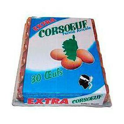 30 Oeufs extra moyen CORSOEUF