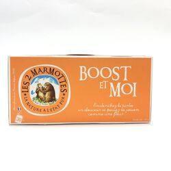 BOOST ET MOI. INFUSIONS Les 2 marmottes, 55g fabriqué en France