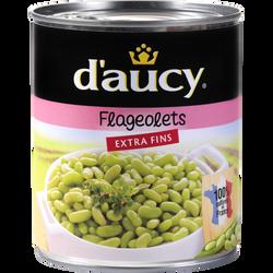 Flageolets verts extra-fins DAUCY, boîte de 530g
