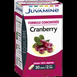 Equilibre formule concentrée cramberry JUVAMINE, 30 gélules