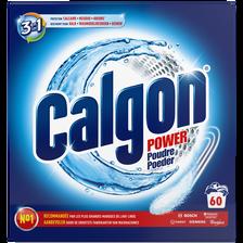 Poudre anti-calcaire power 2 en 1 CALGON, paquet de 60 doses, 1,5kg
