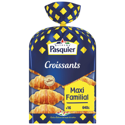 Croissants PASQUIER, x16, 640g