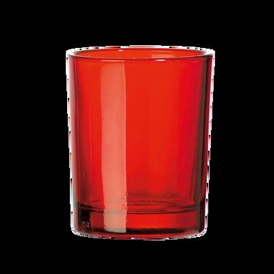 Photophore pour bougies chauffe plat DEVINEAU, 40x56mm, rouge