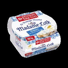 Fromage fouetté pasteurisé nature Mme Loik au sel de Guérande PAYSAN BRETON, 24% de MG, 180g