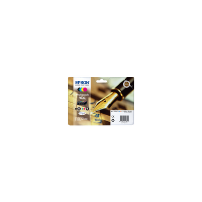 Pack 4 cartouches d'encre EPSON, T1636XL, Stylo Plume, sous blister
