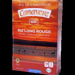 Riz  long étuvé rouge cuisson 18 minutes IGP Camargue BENOIT RIZ DE CANAVERE, paquet de 1kg