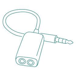 Adaptateur audio stéréo NEDIS m6,35/f3,5 noir