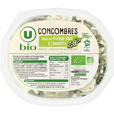 Salade de concombres sauce au fromage blanc et ciboulette U BIO, 200g