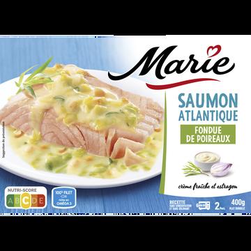 Marie Saumon Atlantique Fondue Poireaux Et Crème Fraîche Marie, 400g