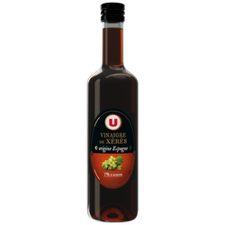 Vinaigre de vin Xérès U, bouteille en verre de 50cl