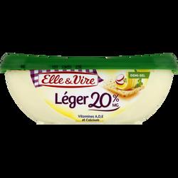 """Matière grasse laitière légère à tartiner 1/2 sel """" Léger"""" ELLE&VIRE,20%MG, 250 g."""
