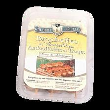 Brochettes de véritable andouillettes de Troyes au poivre de Madagascar, GILBERT LEMELLE, 3x100g
