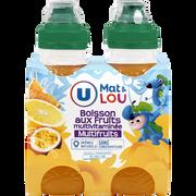 Lou Boisson Aux Fruits Plate À Base De Concentrés, Aromatisée Tropical Etorange U Mat&lou 4x20cl