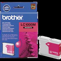 Cartouche d'encre BROTHER pour imprimante, LC1000 magenta, sous blister