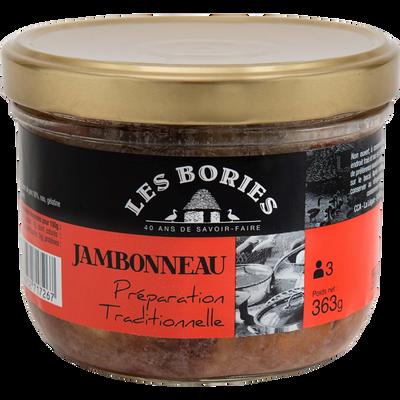 Jambonneau préparation traditionnelle LES BORIES, 363g