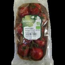 Tomate cerise en grappe, segment Les cerises rondes grappes, BIO, catégorie 2, Espagne, barquette, 350g