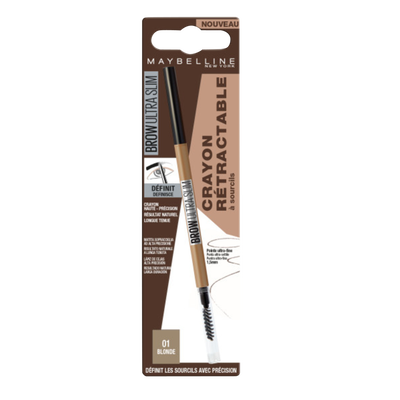 Brow ultra slim 01 blonde blister MAYBELLINE