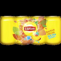 Ice Tea pêche LIPTON, 12 canettes de 33cl