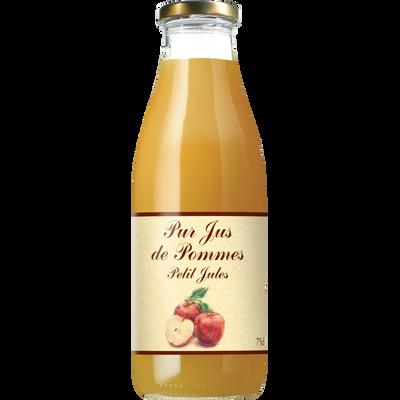 Pur jus de pomme PETIT JULES, bouteille de 75cl