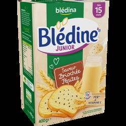 Lait Blédine junior saveur briochée pépites fondante BLEDINA, dès 15 mois, paquet de 400g