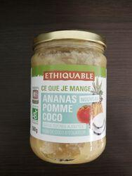 Purée ananas pomme coco BIO  560G Ethiquable
