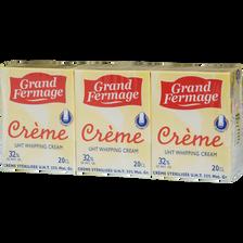 Crème fraîche liquide, GRAND FERMAGE, 30% de MG, 198g