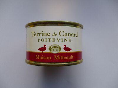 TERRINE DE CANARD POITEVINE MAISON MITTEAULT BOITE 130G