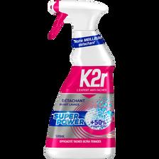 Détachant avant-lavage super power K2R, pistolet de 500ml