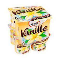 Yaourts sucrés aromatisés vanille YOPLAIT, 8x125g