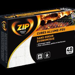 Allume feu sans odeur éco ZIP, 40 cubes