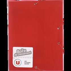 Boîte de classement U, dos 40mm, polypropylène, rouge